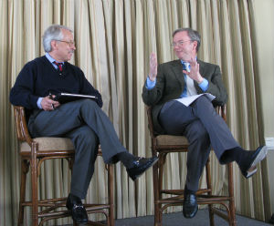 Google's Eric Schmidt giving interview