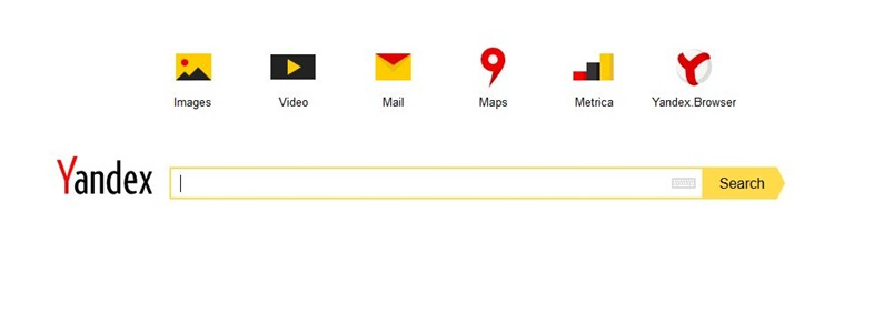 International Yandex Home Page