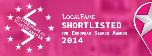 LocalFame Shortlisted for the European Search Awards 2014