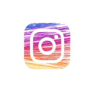 instagram logo brushed
