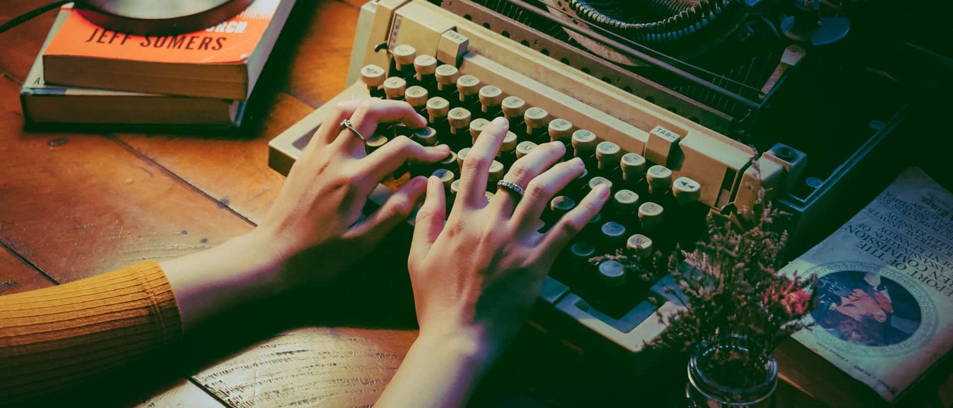 content marketing plan typewriter